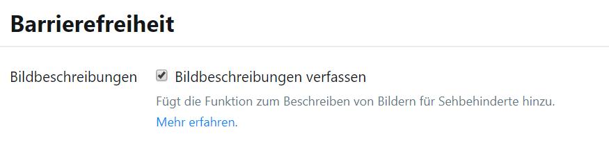 Barrierefreiheit Twitter