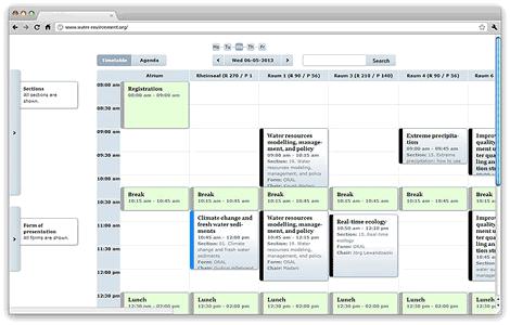Converia interaktiver Konferenz-Plan